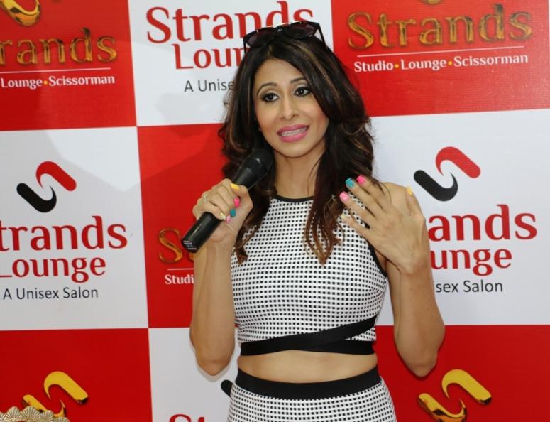 Actress Kishwar Marchent at the launch of strand saloon at Punjabi Bagh new delhi