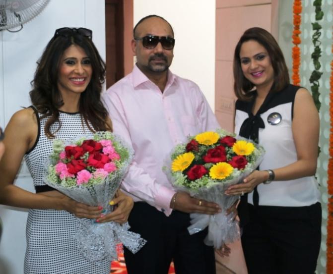 Actress Kishwer Merchant at the launch of strand saloon at Punjabi Bagh new delhi