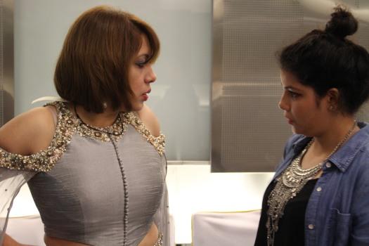 Designer Nidhika Shekhar with the contestant