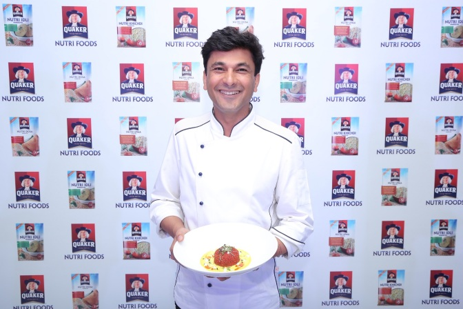 Chef Vikas Khanna, Co-Creator of Quaker Nutri Foods and Brand Ambassador...